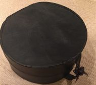 Black Leather Hat Box