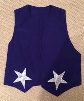 Blue Waistcoat With Silver / White Stars
